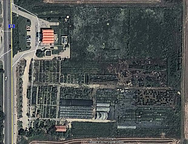 Satelite picture of the central nursery of The Palm Center of Bulgaria, Botanical Garden - Plovdiv